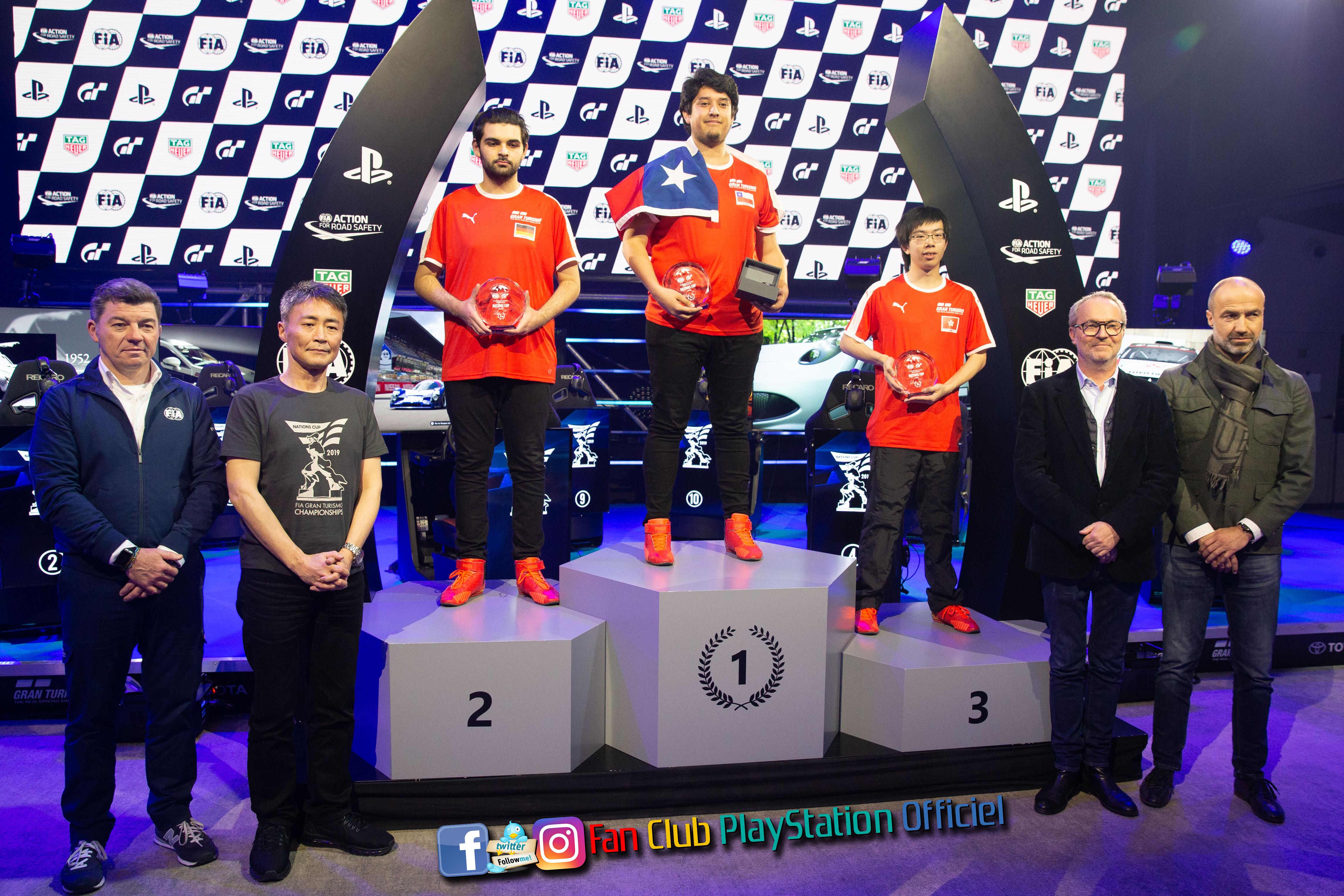 le podium des gagnants