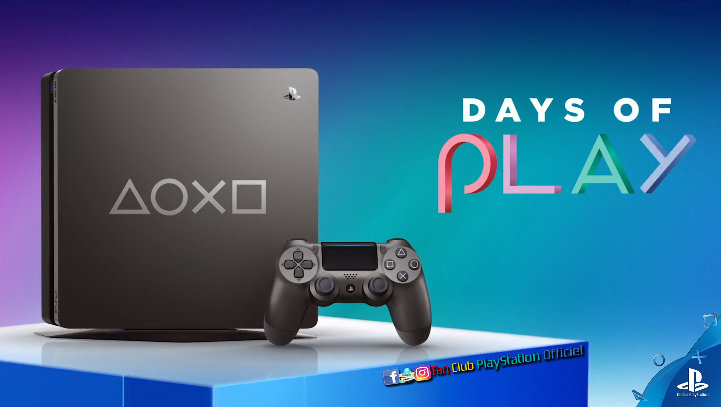 La ps4 days of play en gris acier